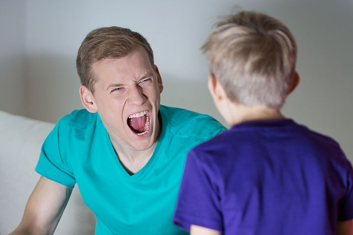 Yelling father