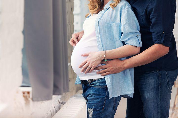 муж и беременная