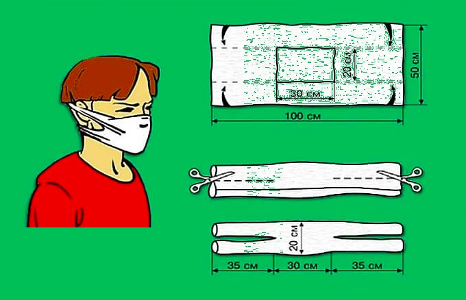 Защитная маска без ниток